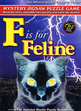 Mystery Jigsaw Puzzle - F is for Feline - 2 500 Piece Puzzles