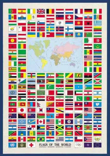 Jigsaw Puzzle - Flags of the World (#2804N00008) - 1000 Pieces Ricordi