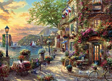 Thomas Kinkade Jigsaw Puzzle - French Riviera (3310-72) - 1000 Pieces Ceaco