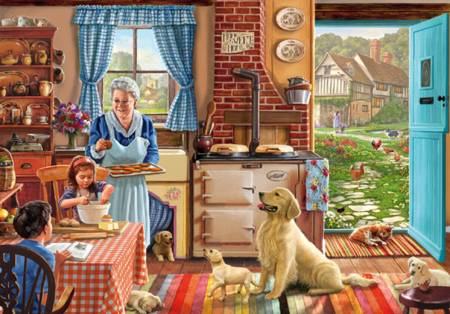 Wooden Jigsaw Puzzle - Grandmas Kitchen (#702102) - 250 Pieces