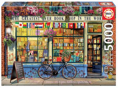 Jigsaw Puzzle - The Greatest Bookshop in the World (18583) - 5000 Pieces Educa