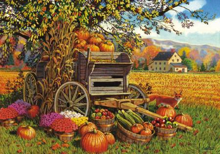 Wooden Jigsaw Puzzle - Harvest Time (#600301) - 250 Pieces Wentworth