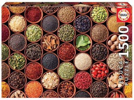 Jigsaw Puzzle - Herbs and Spices (17666) - 1500 Pieces Educa