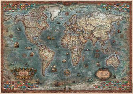 Jigsaw Puzzle - Historical World Map (#18017) - 8000 Pieces Educa