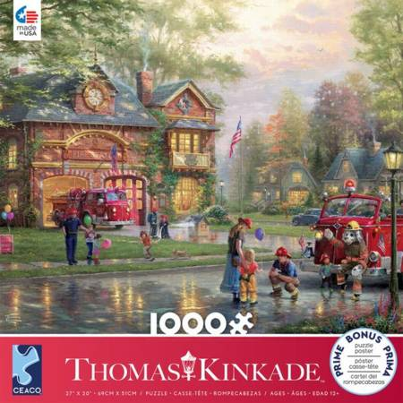 Thomas Kinkade Jigsaw Puzzle - Hometown Firehouse (#3310-64) - 1000 Pieces Ceaco