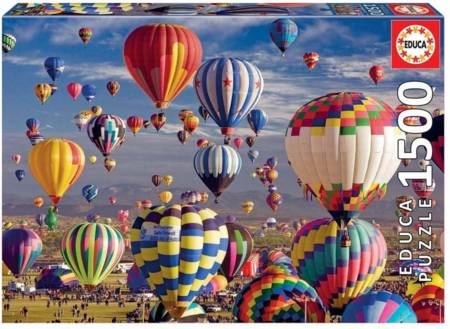 Jigsaw Puzzle -  Hot Air Balloons (#17977) - 1500 Pieces Educa