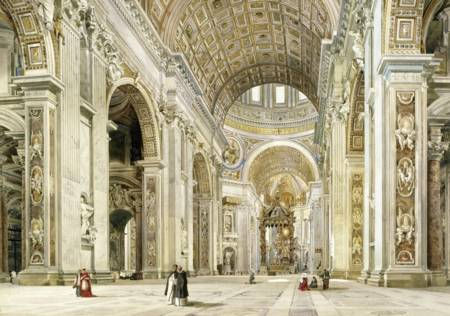 Wooden Jigsaw Puzzle - Interior, St. Peter`s Rome (#3202) - 250 Pieces Wentworth