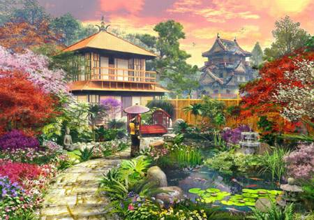 Wooden Jigsaw Puzzle - Japanese Garden (#762205) - 250 Pieces