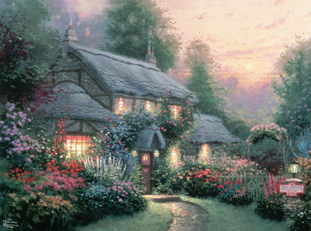 Thomas Kinkade Jigsaw Puzzle - Juliannes Cottage - 1000 Pieces Ceaco