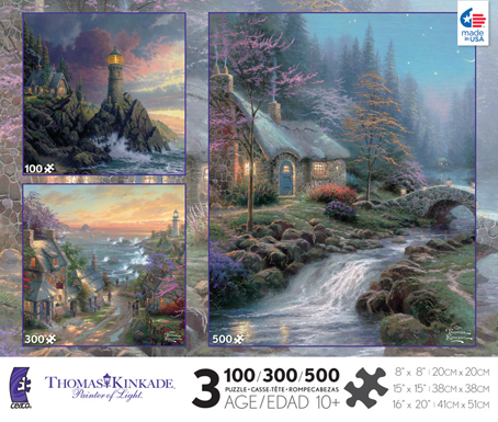 Thomas Kinkade Jigsaw Puzzle - 3 in 1 Puzzle (3532-15) - Ceaco
