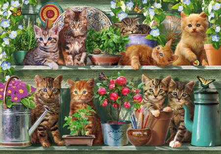 Wooden Jigsaw Puzzle - Kitchen Cats (#701606) - 250 Pieces