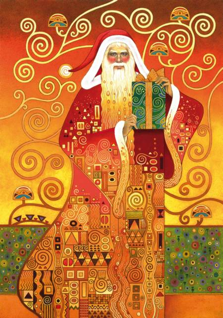 Wooden Jigsaw Puzzle - Klimt Santa (#691203) - 500 Pieces Wentworth