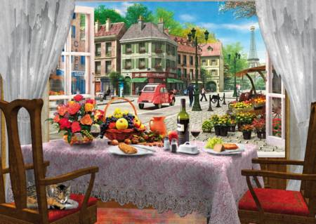 Wooden Jigsaw Puzzle - Le Cafe Paris (#661408) - 500 Pieces Wentworth