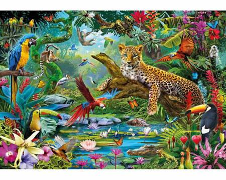Wooden Jigsaw Puzzle - Leopard Jungle (903106) - 250 Pieces Wentworth