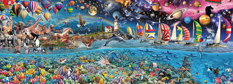 Jigsaw Puzzle - Life, The Greatest Puzzle - 24,000 Pieces Educa