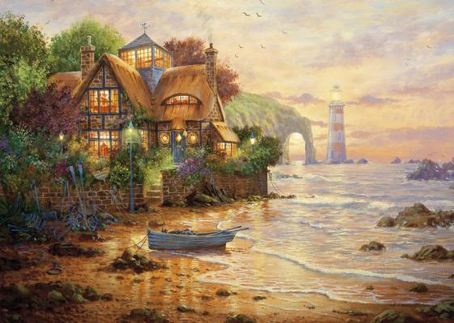 Wooden Jigsaw Puzzle - Lighthouse Cottage - 500 Pieces Wentworth