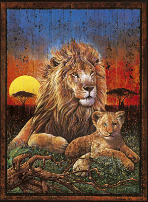 Jigsaw Puzzle - Lion Sunset - 1000 Pieces Clementoni