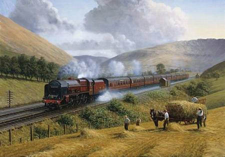 Wooden Jigsaw Puzzle - LMS The Royal Scot (722709) - 250 Pieces Wentworth