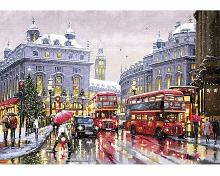 Wooden Jigsaw Puzzle - London in Snow (851905) - 500 Pieces