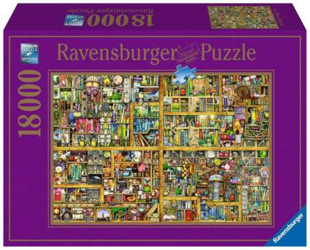 Jigsaw Puzzle - Magical Bookcase (#17825) - 18000 Pieces Ravensburger