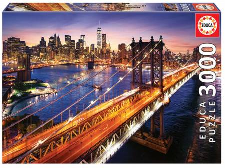 Jigsaw Puzzle - Manhattan at Dusk (18508) - 3000 Pieces Educa