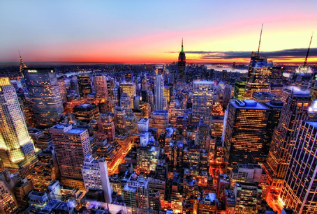 Jigsaw Puzzle - Manhattan Sunset (#14824) - 3000 Pieces Educa
