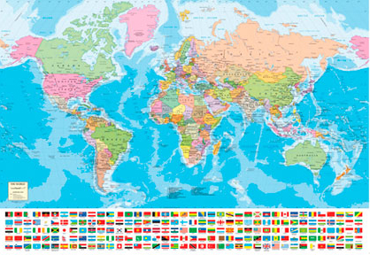 Jigsaw Puzzle - Map of the World - 1500 Pieces Educa