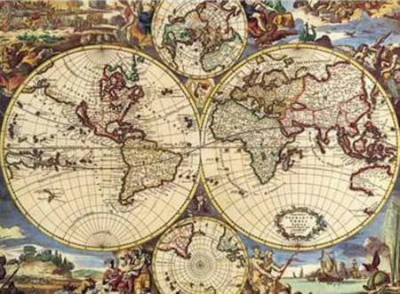 Jigsaw Puzzle - Map of the World (#2801N16020G) - 1000 Pieces Ricordi