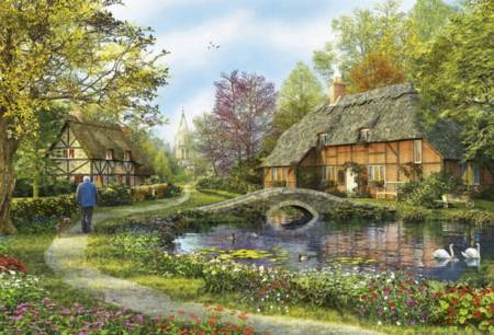Jigsaw Puzzle - Meadow Cottages - 5000 Pieces Educa
