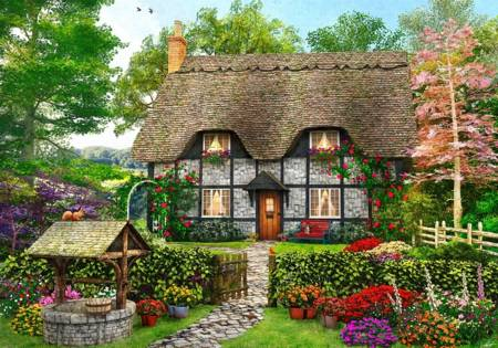 Wooden Jigsaw Puzzle - Meadow Cottage (801902) - 250 Pieces Wentworth