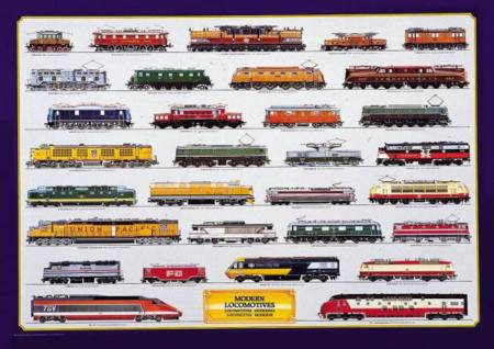 Jigsaw Puzzle - Modern Locomotives (#2804N00017) - 1000 Pieces Ricordi