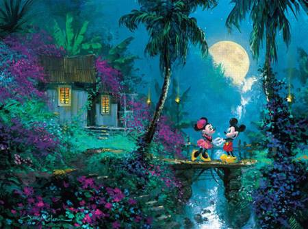 Thomas Kinkade Jigsaw Puzzle - Moonlight Proposal (#3377-3) - 1000 Pieces Ceaco