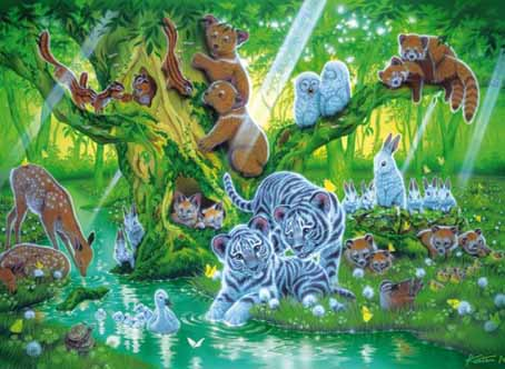 Jigsaw Puzzle - Mother Tree (Animals) (#31987) - 1500 Pieces Clementoni