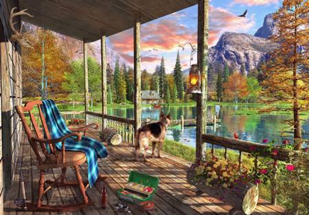 Wooden Jigsaw Puzzle - Mountain Cabin (#802008) - 250 Pieces