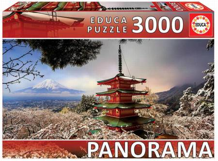 Jigsaw Puzzle - Mt Fuji and Pagoda (#18013) - 3000 Pieces Educa