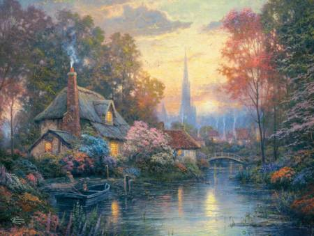 Thomas Kinkade Jigsaw Puzzle - Nanette`s Cottage (#3401-23) - 1500 Pieces Ceaco
