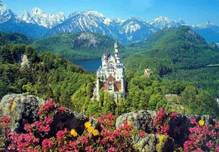 Jigsaw Puzzle - Neuschwanstein Castle (#166121) - 2000 Pieces Ravensburger