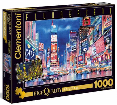 Glow in Dark Jigsaw Puzzle - New York Lights (#39249) - 1000 Pieces Clementoni