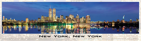 Jigsaw Puzzle - New York (Panoramic Image) - 750 Pieces Buffalo Games