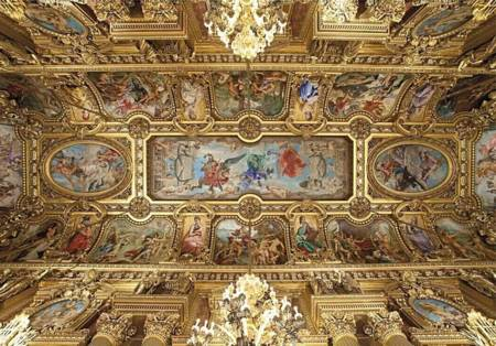 Wooden Jigsaw Puzzle - Opera Garnier, Paris (Golden - Ceiling) (761513) - 500 Pieces