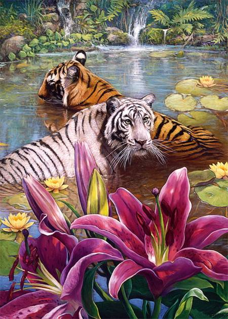 Jigsaw Puzzle - Painted Tiger (37137) - 500 Pieces Trefl