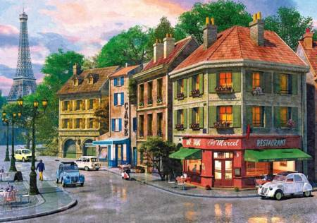 Wooden Jigsaw Puzzle - Paris Streets (791605) - 250 Pieces Wentworth