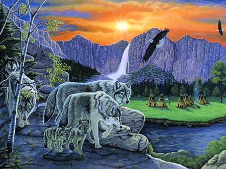 Jigsaw Puzzle - Path of the Wolf Spirit - 1500 Pieces F.X. Schmid