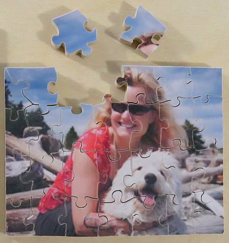 The Puzzle House - Wooden Photo Puzzle - 25 Pieces