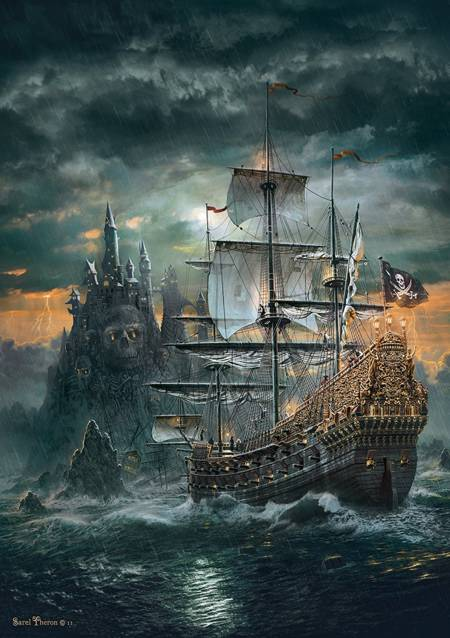 Jigsaw Puzzle - Pirate Ship (#31682) - 1500 Pieces Clementoni