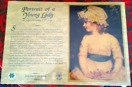 Jigsaw Puzzle - Portrait of a Young Lady - 1000 Pieces Historical Puzzle Collection