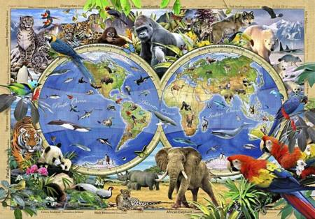 Wooden Jigsaw Puzzle - Rare and Endangered (802206) - 250 Pieces Wentworth