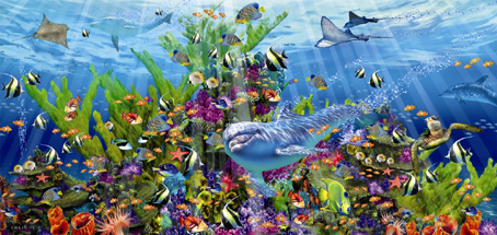 Jigsaw Puzzle - Reef #16020 (Panoramic Image) - 3000 Pieces Educa