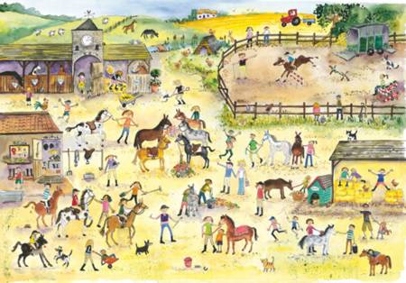 Wooden Jigsaw Puzzle - Riding Stables (#682303) - 250 Pieces Wentworth