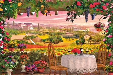 Jigsaw Puzzle - Romantic Italy, Tuscany (#39260) - 1000 Pieces Clementoni
